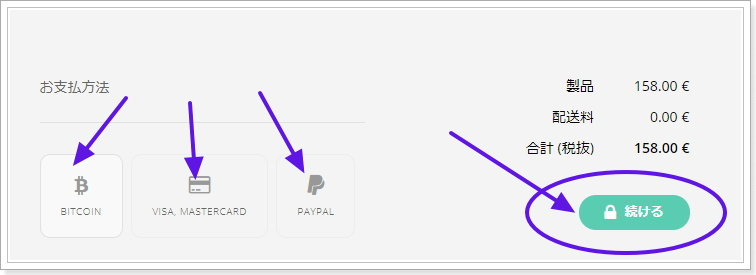LedgerNanoS 海外公式サイトからの注文方法決済方法
