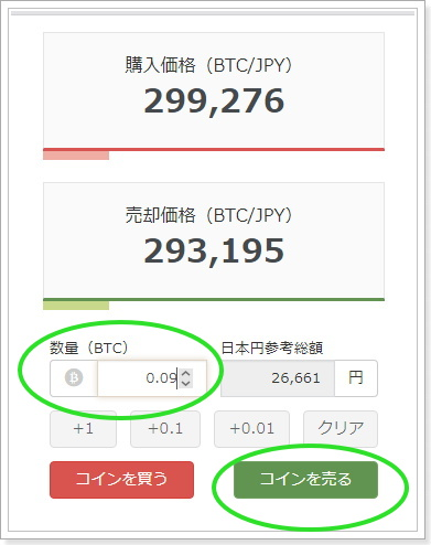 bitFlyer仮想通貨の現金化方法ビットコイン売却