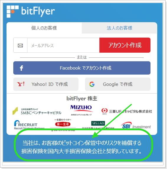 bitFlyerの盗難補償サービス