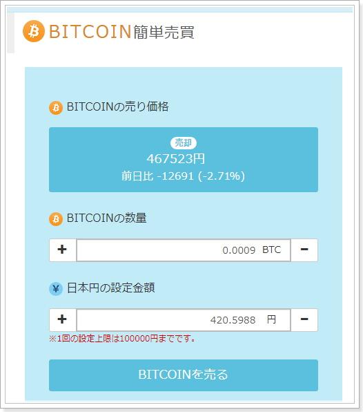 Zaifビットコイン積み立て投資売却方法
