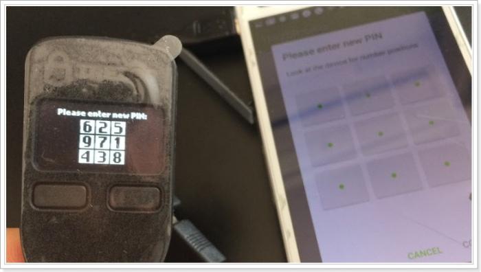 AndroidスマートフォンでTREZOR(ハードウェアウォレット)を使う方法,PIN設定