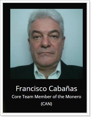 MoneroコアメンバーFrancisco Cabañas