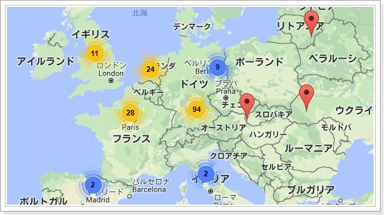 欧州のスーパーノード数