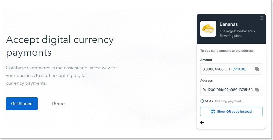 コインベースコマースでBTC・BCH・ETH・LTC支払い受け入れを簡単にするプラットフォームを発表