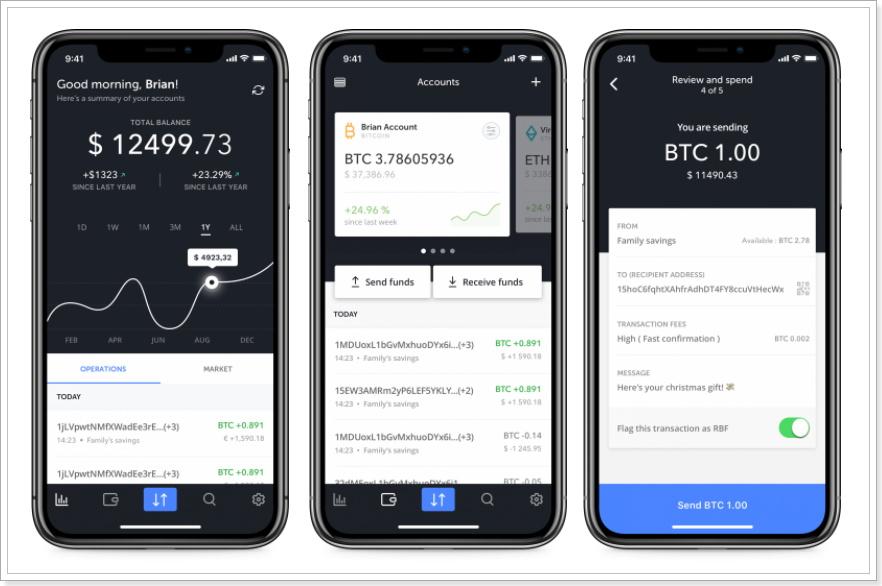 LedgerNanoSスマートフォンアプリ