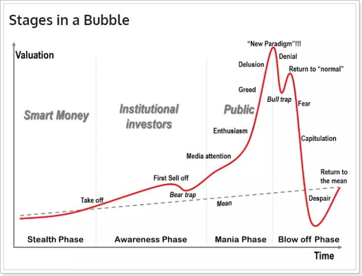 仮想通貨市場のバブル例