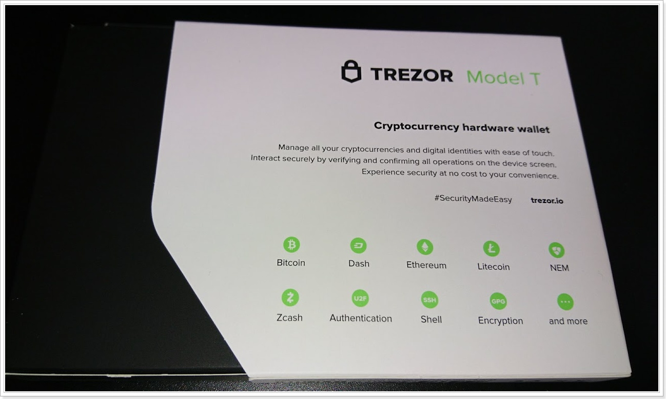 新ハードウェアウォレット「TREZOR T」