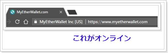 オンライン上の仮想通貨ウォレット
